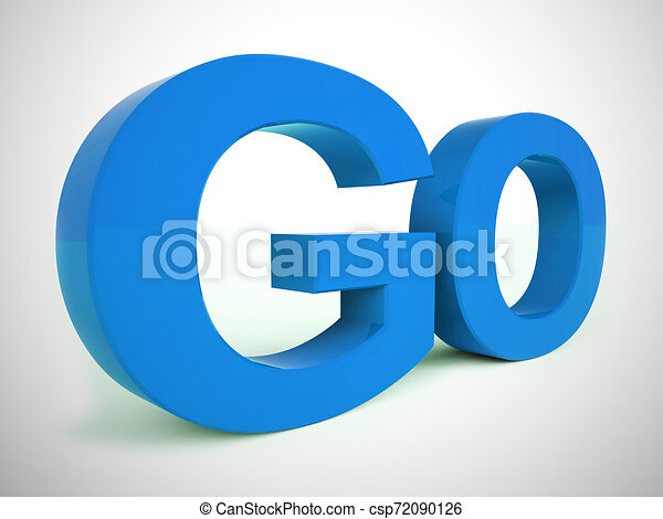 Go concept icon means start or continue the launch - 3d illustration - csp72090126