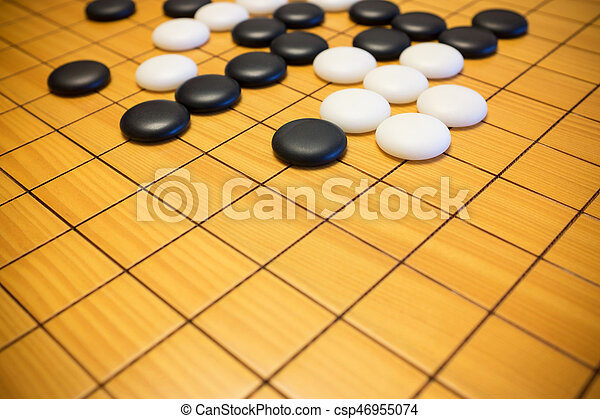 Go Game Or Weiqi Chinese Board Background