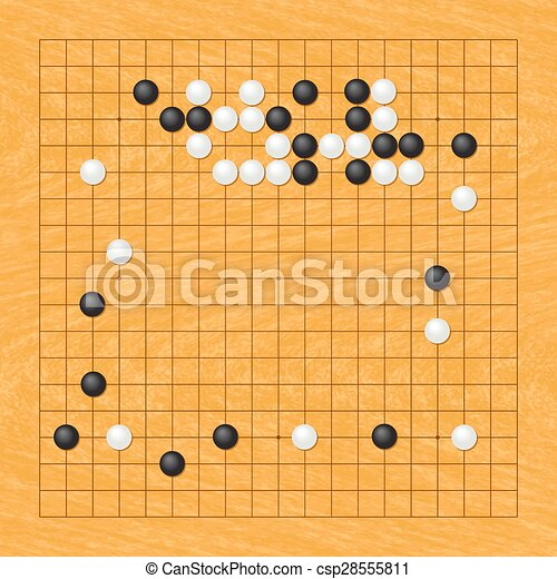 Position Of The Go Game Vector Clip Art