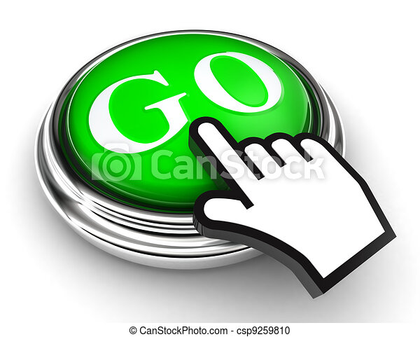 go green button and pointer hand - csp9259810