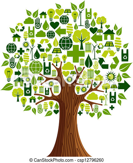 go green icons concept tree environmental conservation clip art rh canstockphoto com au Cake Clip Art Heart Clip Art