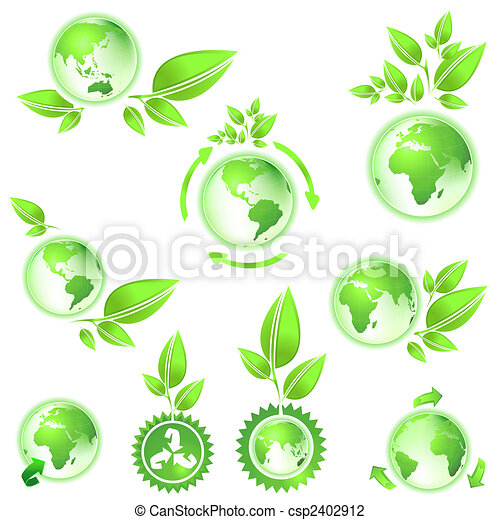 Go Green Planet Earth Maps Environmental Conservation Symbol Planet