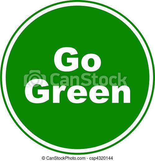 Go Sign Icon Go green sign. ...