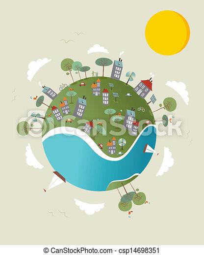Go Green World Design Cute Go Green Environment World Sketch