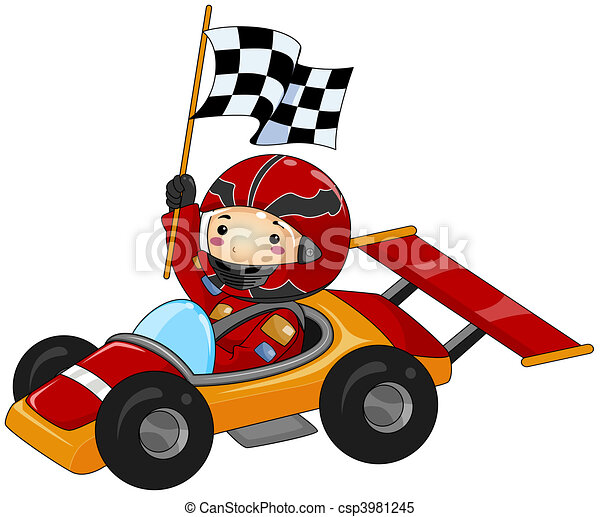 boy on go kart stock illustrations search clipart drawings rh canstockphoto com go kart clipart free go kart clipart free