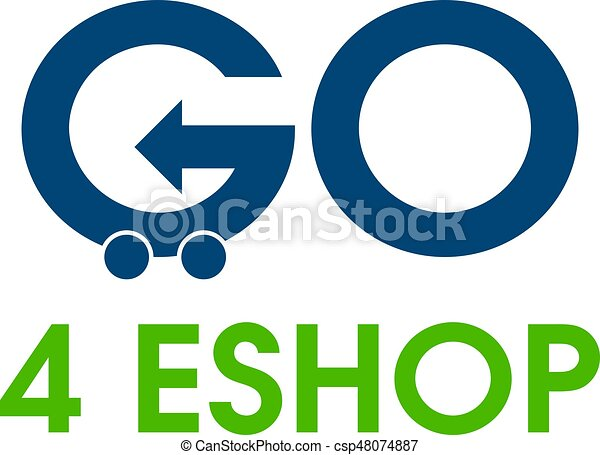 go shopping vector logo design template text go shopping and