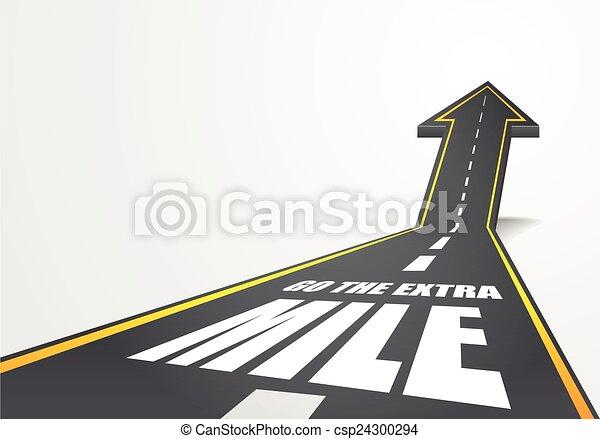 go the extra mile - csp24300294