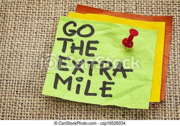 go the extra mile reminder - csp16526034
