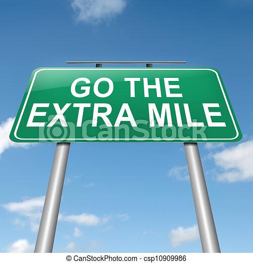 Go the extra mile. - csp10909986