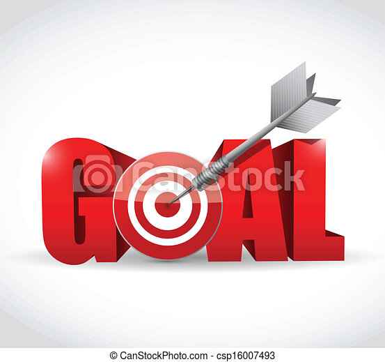 goal and target and dart illustration design - csp16007493
