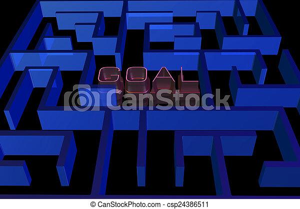 Goal maze concept - csp24386511