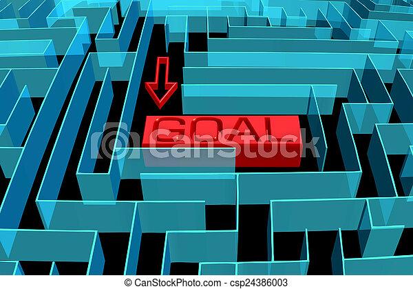 Goal maze concept - csp24386003