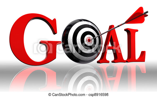 goal red word and conceptual target - csp8916598