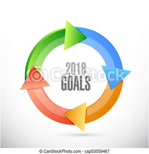 goals 2018 cycle sign illustration design - csp53559467