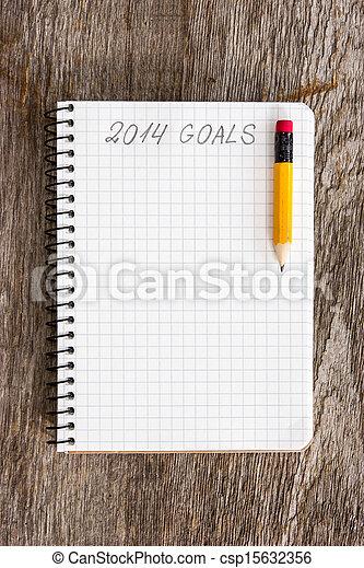 Goals of year 2014 - csp15632356
