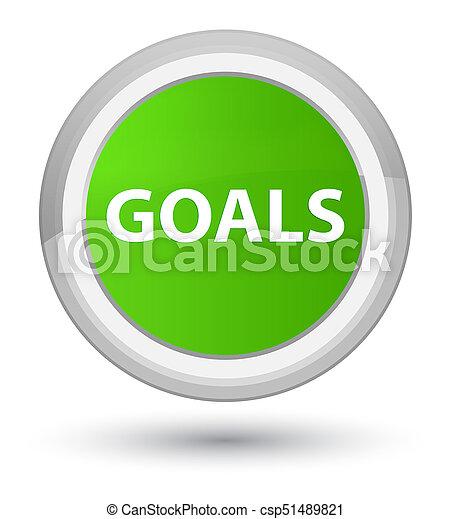 Goals prime soft green round button - csp51489821
