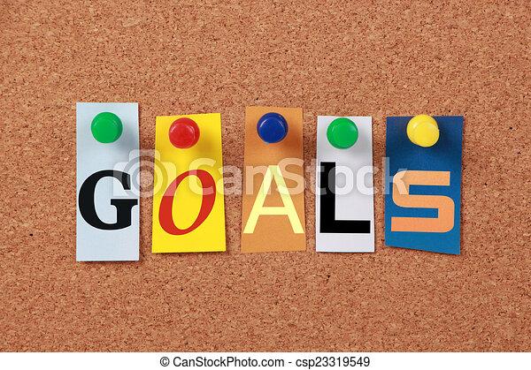 Goals Single Word - csp23319549