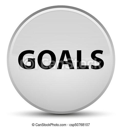 Goals special white round button - csp50768107