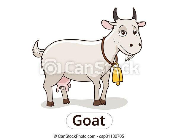 Goat animal cartoon illustration for children - csp31132705