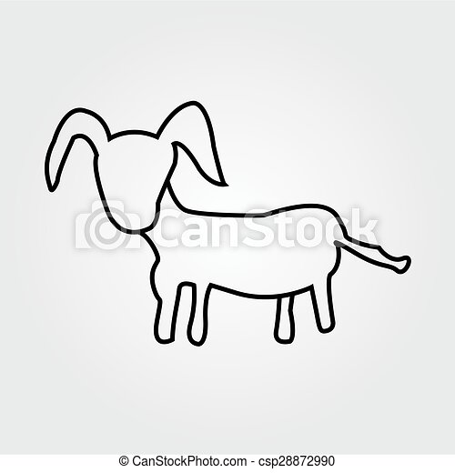 goat isolated on a white background - csp28872990