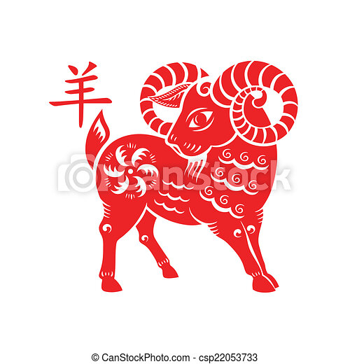 Goat Lunar symbol - csp22053733