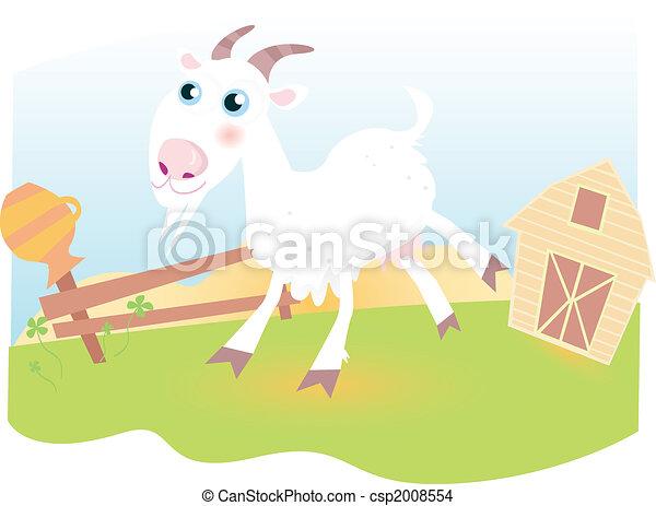 Goat on farm - csp2008554