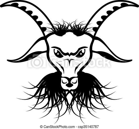 Goat Satan Devil Evil Vector Vector Search Clip Art Illustration
