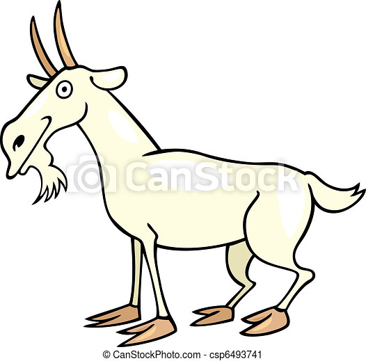 cartoon illustration of farm goat vector clip art search rh canstockphoto com free black and white goat clipart