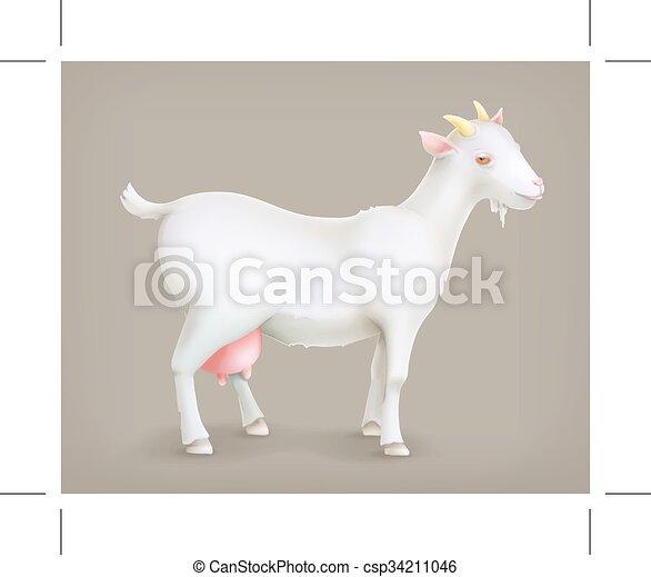 Cabra, vector icono - csp34211046