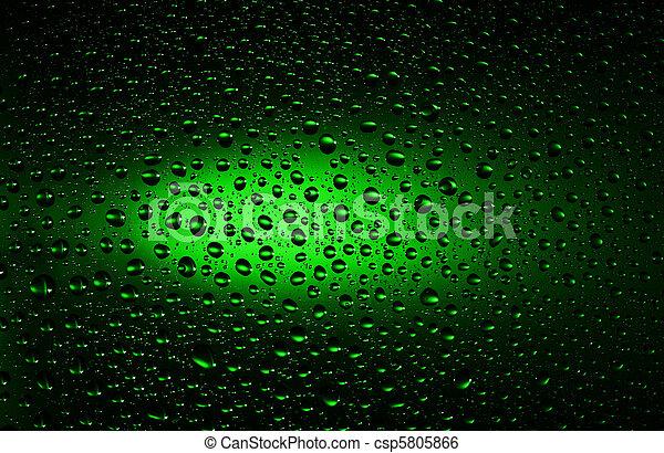Gocce Acqua Sfondo Verde Primo Piano Acqua Sfondo Verde Gocce