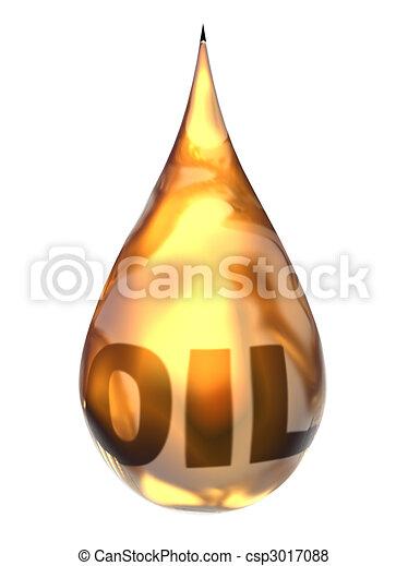 goccia, olio - csp3017088