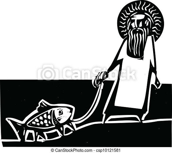 God and Darwin - csp10121581