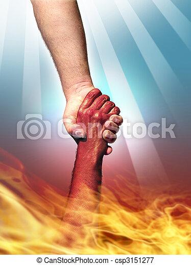 God and Devil - csp3151277