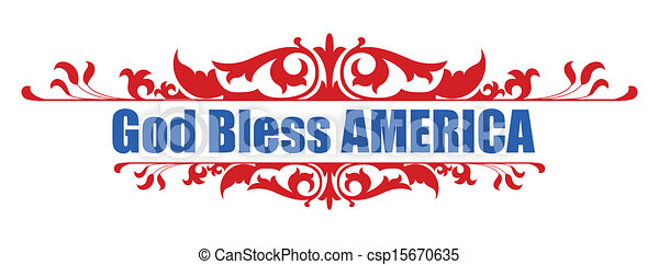 God Bless America - 4th of july - csp15670635