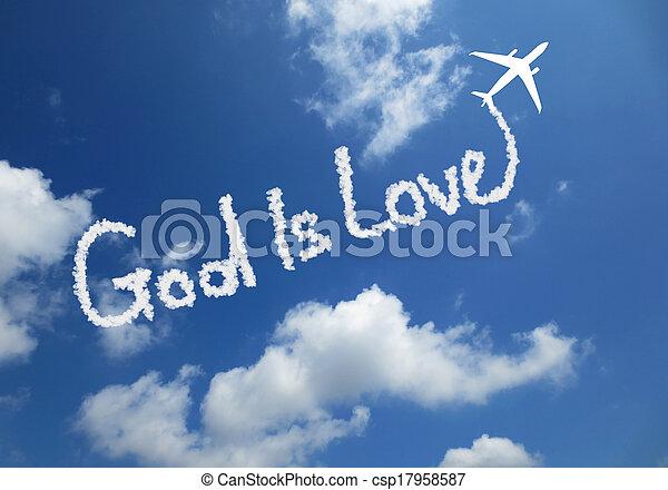 God is love - csp17958587