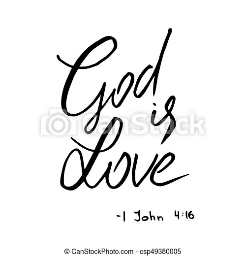God Is Love Quote Lettering First Epistle Of John