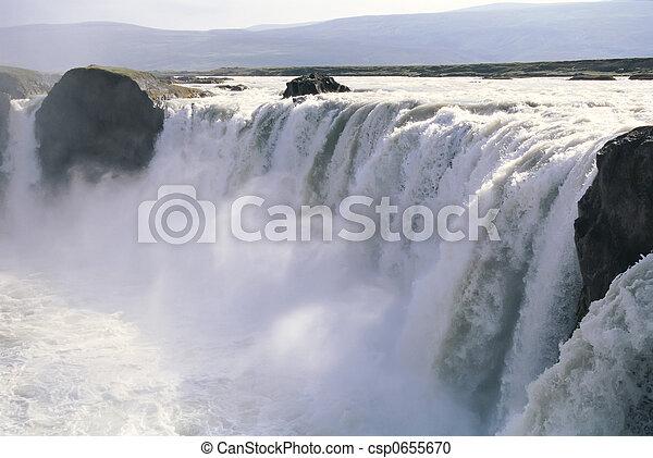 godafoss, izland, vízesés - csp0655670