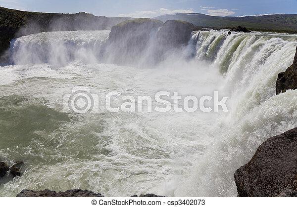 Godafoss Waterfall Iceland - csp3402073