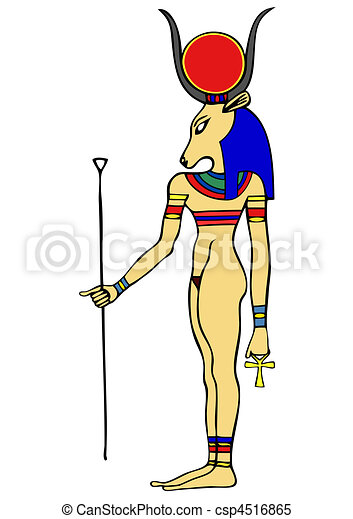 Goddess of Ancient Egypt - Hathor - csp4516865