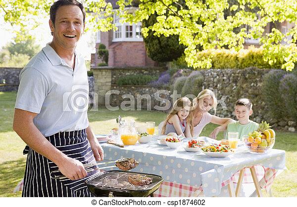 godere, famiglia, barbeque - csp1874602