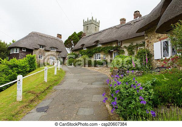 Godshill village Isle of Wight uk - csp20607384