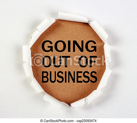 Going Out Of Business - csp23093474