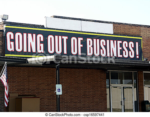 Going Out of Business Sign - csp16597441