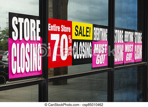 Going Out of Business Signs - csp85010462