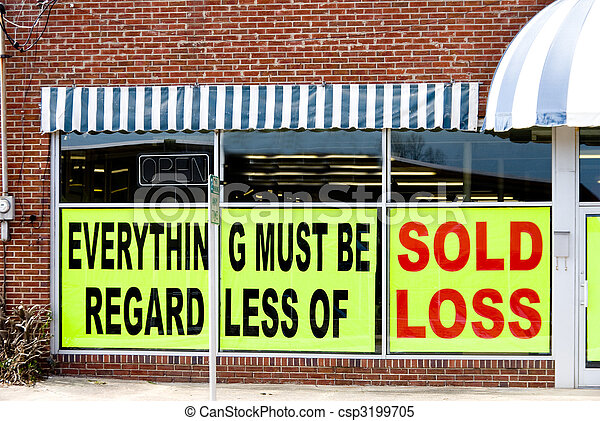 Going Out of Business - csp3199705
