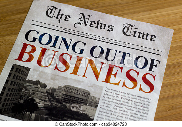 Going out of business - csp34024720