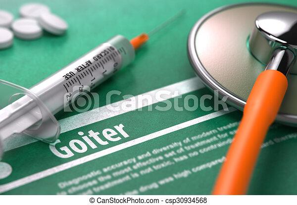 goiter., orvosi fogalom, zöld, háttér. - csp30934568