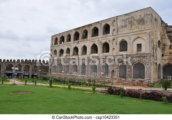 Golconda Fort in Hyderabad - csp10423351