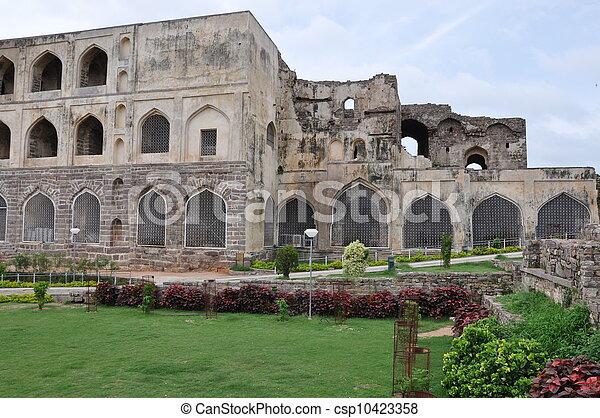Golconda Fort in Hyderabad - csp10423358