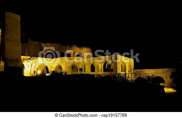 Golconda Fort (night view), India - csp19157789